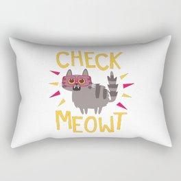 Check Meowt Rectangular Pillow