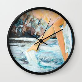 Summer laziness Wall Clock