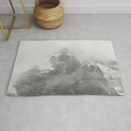 Rocky Mountain Fog B&W Rug