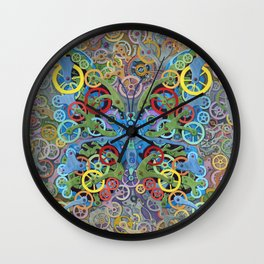 Clockwork Butterfly No. 11 Wall Clock