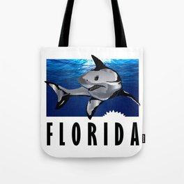 Florida Shark in Deep Blue Tote Bag
