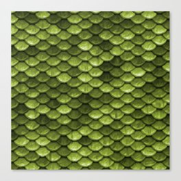 Mermaid Scales | Green with Envy Canvas Print