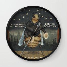 Snowmine Buzzsession Cover Art Wall Clock