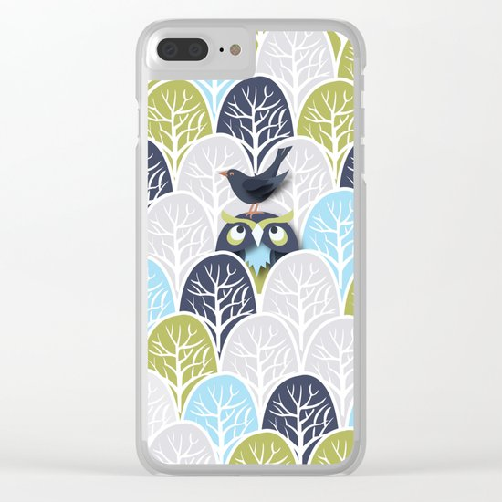 Forest Owl No. 2 Clear iPhone Case