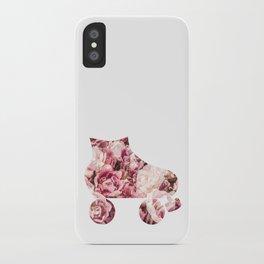 Roller Derby & Roses iPhone Case