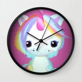 Chibi Unicorn (Dark Pink) Wall Clock