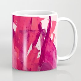 Embers: a vibrant abstract piece in pinks Coffee Mug