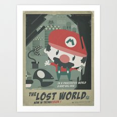 mario bros 4 fan art Art Print