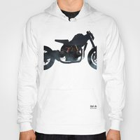cafe racer Hoodies featuring cafe racer fighter bike by Daniele Faro