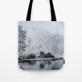 Frosted Morning Tote Bag