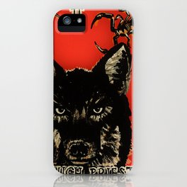 High Priestess Coyote and Scorpions Acrylic Painting iPhone Case