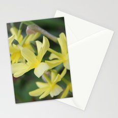 pretty light yellow garden flowers. floral photography. Stationery Cards
