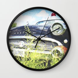Cherries and Berries {Historic Cop Car} 1950's Buick  Wall Clock
