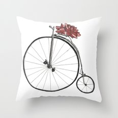 Christmas Bicycle Throw Pillow