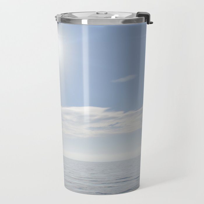 summer, could and sea in the Balearic Island Travel Mug