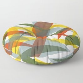 Abstract Whale / Abstract Snail Floor Pillow