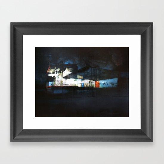 The Ice Docks Framed Art Print