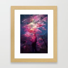 Kenma and the Sky Framed Art Print