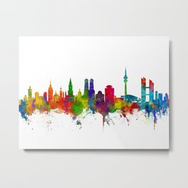 Munich Germany Skyline Metal Print