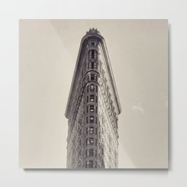 Flatiron Building, original New York photography, skyscrapers, wall decoration, home decor, nyc b&w Metal Print