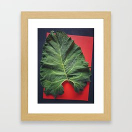Burdock sheet Framed Art Print