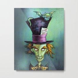Dark Mad Hatter Metal Print