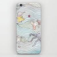cook iPhone & iPod Skins featuring Cook Party by Jane Chu