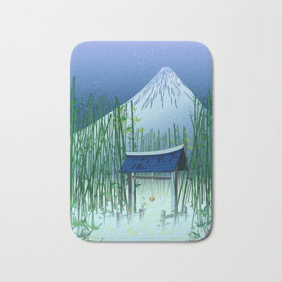 A moonless night Bath Mat