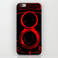 vintage camera iPhone & iPod Skins featuring Camera by short stories gallery