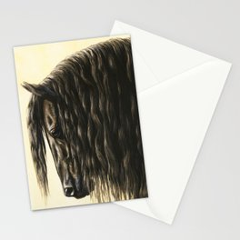 Black Friesian Draft Horse Stationery Cards