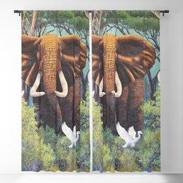 Barry Nehr - Bull Elephant Blackout Curtain