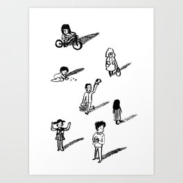 Hey Neighbor Art Print