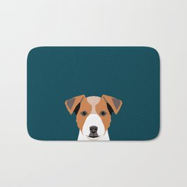 Bailey - Jack Russell Terrier phone case art print gift for dog people Jack Russell Terrier owners Bath Mat