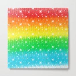 Rainbow Sparkles Paint trails #3 Metal Print