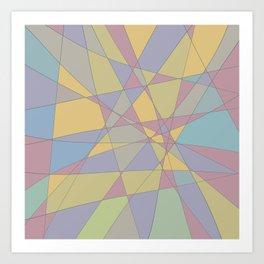 Shattered Yellow & Purple Art Print