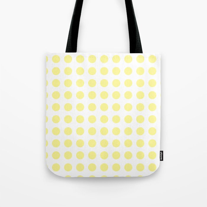 92f3e4106 Simply Polka Dots in Pastel Yellow Tote Bag by followmeinstead | Society6