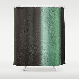 Green Leaf Overlay Shower Curtain