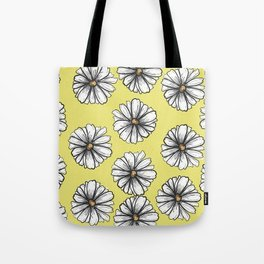 Please Don't Eat the Daisies Chartreuse Tote Bag
