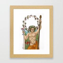 Bacchus, God of Wine Framed Art Print