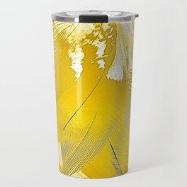 Golden Feathers Travel Mug