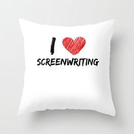 I Love Screenwriting Throw Pillow