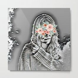 BehindtheMask Metal Print