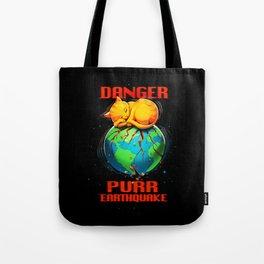 Purr Earthquake Tote Bag