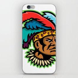 Zulu Warrior Head Mascot iPhone Skin