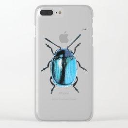 Insecte blue métal colors fashion Jacob's Paris Clear iPhone Case