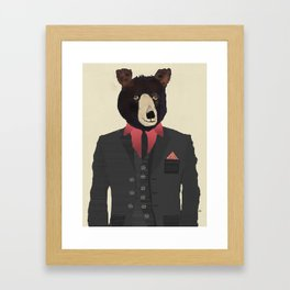 mr grizzly Framed Art Print