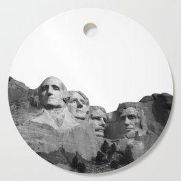 Mount Rushmore National Memorial South Dakota Presidents Faces Graphic Design Illustration Cutting Board