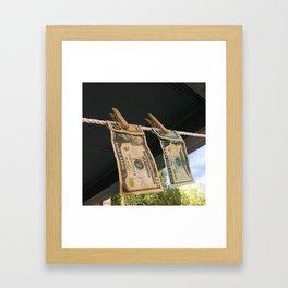 Hanging to Dry Framed Art Print