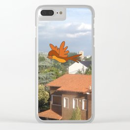 Flying with friends. Clear iPhone Case