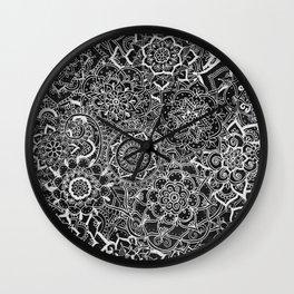 Delicate Lace Mandala Pattern Wall Clock